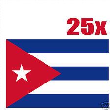 CUBA drapeau 25 stickers autocollants en vinyl et mélange de tailles