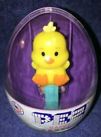 PEZ Candy mini-Dispenser: purple egg EASTER CHICK baby blue stem -2020- Sealed