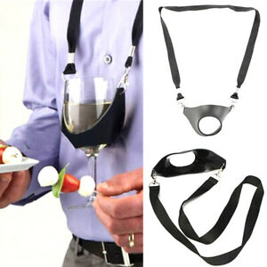 1PC Strap Wine Sling Yoke Glass Holder Support Neck Strap for Cocktail Part. LD