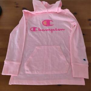 CHAMPION  Authentic Athletic Wear Girls Size S Pink Lightweight Logo Hoodie NWOT