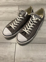 Converse Trainers Low Tops Chuck Taylor All Star Canvas Shoes size 11 GREY