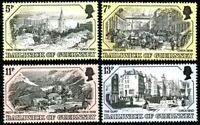 GUERNSEY 1978 OLD PRINTS SET OF ALL 4 COMMEMORATIVE STAMPS MNH (a)