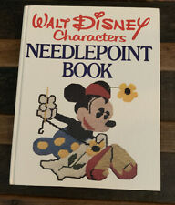 Vintage Walt Disney Characters Needlepoint Book.Patterns.Hardcover 1976