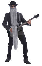 Extra Long 48 Inch Grey Beard Old Man Hillbilly ZZ Top Costume Accessory Cosplay