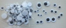 1 bag of Googly Eyes assorted sizes and shapes black and white