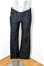 jeans court noir denim stretch et faux cuir KAPORAL 5 melissa T W26 petite femme