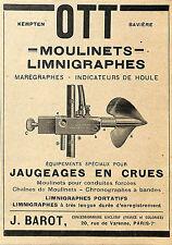 KEMPTEN MOULINETS OTT BAROT PARIS VARENNE PUBLICITE ADVERTISING 1930