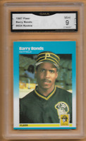 1987 Fleer Barry Bonds RC #604 Rookie Pittsburgh Pirates GMA 9 Mint