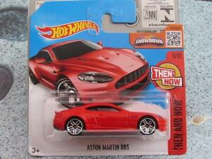 Hot Wheels 2016 #106/250 2010 ASTON MARTIN DBS red Then and Know Case G