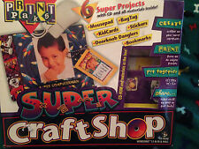 Print Paks Super Craft Shop Kit CD, Instructions to Make Mouse Pad, Bookmarks ++