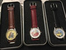 3 x Tintin Globe Trotter - Herge / Moulinsart Citime Watch - 1994 NEW