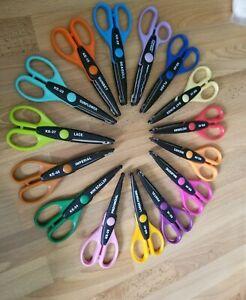 Kraft Edgers Scissors With Wooden Carosel Holder Lot Of 15