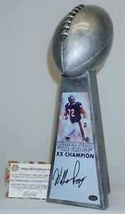 William Perry Signed Chicago Bears Silver Super Bowl Trophy Trophy A313362 Rep