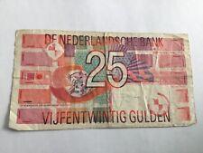 Nederland 25 gulden 1989 bankbiljet, serienummer 2370039455