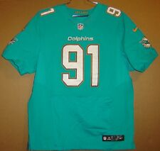 MIAMI DOLPHINS CAMERON WAKE #91 AQUA AUTHENTIC NFL Nike Size 52 JERSEY
