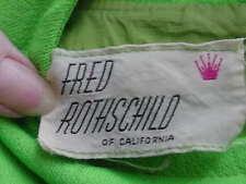 ''FRED ROTHSCHILD OF CALIFORNIA''   ''SMALL VINTAGE DRESS''  ''1947-1964''