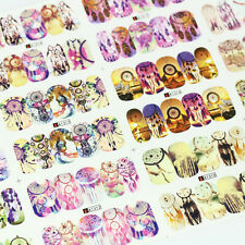 12Sheets stickers dreamcatcher water transfer nail art decoration decals A1309