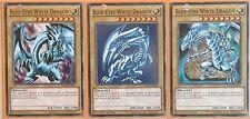 3 X BLUE-EYES WHITE DRAGON! LDK2-ENK01 1ST ED MINT