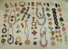 Huge Lot Antique & Vintage Brooches, Earrings, Necklaces & More ART DECO to Mod