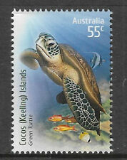 COCOS IS 2009 Species at Risk GREEN TURTLE FISH 1v MNH