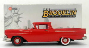 Brooklin 1/43 Scale BRK108 - 1957 Ford Ranchero Flame Red