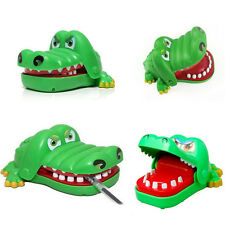 Small Size Funny Big Mouth Crocodile Toy Dentist Bite Finger Game Gags Joke