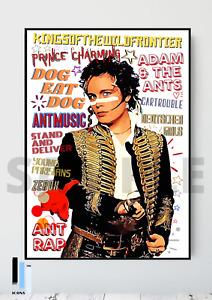 Adam & The Ants 80's Pop Art Poster Memorabilia/Keepsake/Gift FREEPOST