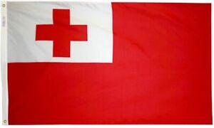 Tonga Flag 2x3 Annin 221590 NYL-GLO High Quality Made USA Free Priority Shipping