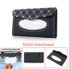 PU Leather Tissue Box Car Sun Visor Napkin Box Paper Holder Cover Towel Durable