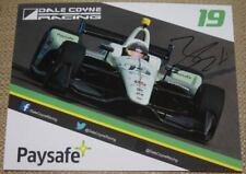 2018 Zachary Claman De Melo signed Paysafe Honda Dallara Indy Car postcard