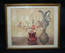 Impressionistic style still life watercolour painting flowers by EM Clayfield