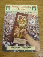 08/05/1988 Cricket Programme: Hampshire v Glamorgan [At Southampton] (scores not