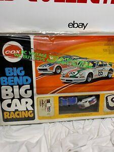 Rare Vintage Original 1977 Cox Big Bend Big Car Slot Car Racing Set SEALED NOS