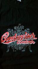 BUDWEISER PRAGUE Tee T Shirt Solid Black SIZE XL 'CHECK ME OUT' CZECH