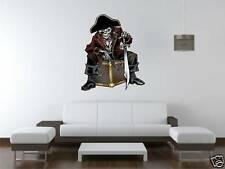 Pirate on a Chest large Wall Art Sticker Free Postage
