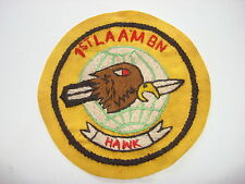 Vietnam War Hand Sewn Patch US Marines 1st LIGHT ANTI-AIRCRAFT MISSILE Bn HAWK
