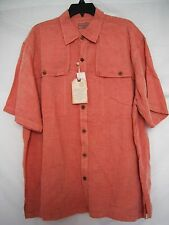Caribbean Size XL Extra Large Berry Button Front New Mens Shirt
