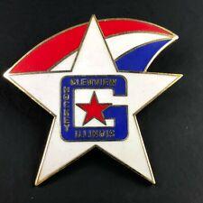 Vintage Glenview Stars Hockey Pin Pinback Illinois  Enamel Traveling Travel GSHA