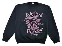 Vintage Snowflake Ski Crewneck Sweater Black Size L Womens Breckinridge Colorado