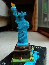 Statue of Liberty Nanoblock Architecture Building Blocks NBA002 Used COMPLETE EC