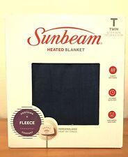 Sunbeam Twin Heated Blanket, Blue Fleece