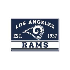 "LOS ANGELES RAMS EST. 1937 2.5"" x 3.5"" METAL MAGNET NEW WINCRAFT"