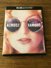 Like New! Almost Famous 4k Uhd (No Blu-Ray No Digital) Rock n Roll Free Shipping