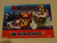 Mario Party 2 Nintendo 64 N64 Store Display Plastic Poster Promo Banner