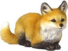 "Fox Pup Crouching Figurine 5.25"" Long New in Box Wild Animals Polystone"