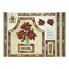 Marblehead Listening Christmas Apron 100% Cotton Canvas Fabric by the panel