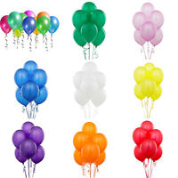 Wholesale 20/50/100Pcs Latex Plain Baloons Helium Wedding Party Decor Balloons