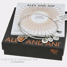 Authentic Alex and Ani Teardrop November Birthstone Rafaelian Silver Bangle