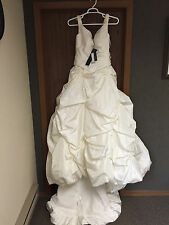 GORGEOUS $1400 Justin Alexander 8030 Wedding Gown Bridal Dress sz 12!