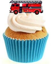 Novedad Fuego Motor 12 Comestibles Stand Up Oblea papel Cake Toppers Cumpleaños